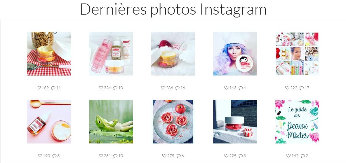 Module Instagram pour Prestashop - Front